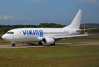 Viking Airlines - A Viking Airlines Boeing 737-300 at Edinburgh Airport, Scotland. (2009)