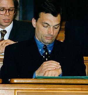 Viktor Orbán - Orbán in 1997 as leader of the opposition.
