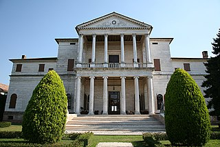 patrician villa in Piombino Dese, about 30 km northwest of Venice, Italy
