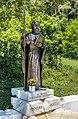Villach Obere Fellach Thomas-Quelle mit Kupferblech-Statue hl Thomas 26062017 9878.jpg