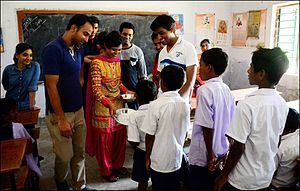 XLRI - Xavier School of Management - Students visiting village, XLRI