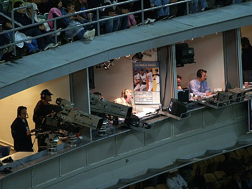 Vin Scully in booth