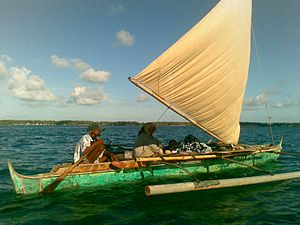 Vinta - A vinta with a plain sail from the Bajau of Borneo.