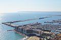 Vista del port des del castell de santa Bàrbara, Alacant.JPG