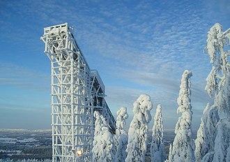 Vuokatti - Ski jumping tower in the Vuokatinvaara hill