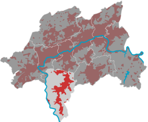 Location of the Cronenberg district in Wuppertal