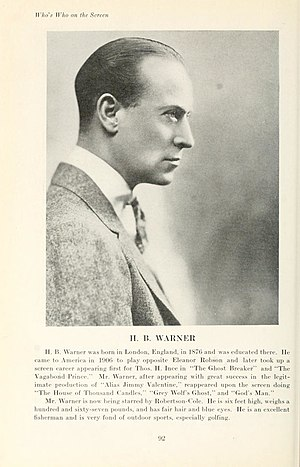 H. B. Warner - H. B. Warner (1920)
