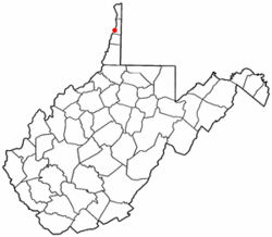Location of Beech Bottom, West Virginia