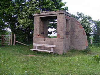 Alkborough - The remains of the northern bombing range observation post