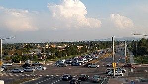 Colorado State Highway 121 - Wadsworth Boulevard (Colorado Highway 121) at Bowles Ave. in Littleton, Colorado.