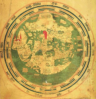 Andreas Walsperger - Map of Andreas Walsperger, around 1448