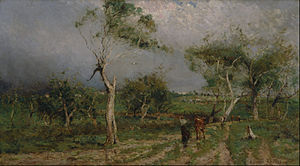Walter Withers - The Storm, which won the first Wynne Prize in 1896