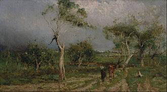 Walter Withers - The Storm (1896), winner of the first Wynne Prize