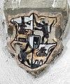 Wappenschild im Schlussstein der St. Michael Kapelle in Bad Mergentheim.jpg