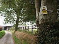 Warning at West Arson - geograph.org.uk - 555509.jpg