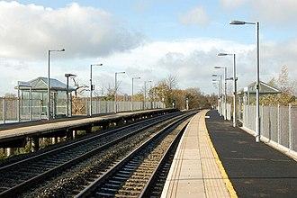 Warwick Parkway railway station - Warwick Parkway platforms in 2009.