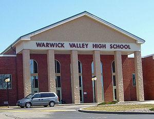 Warwick Valley High School - Front entrance of school building