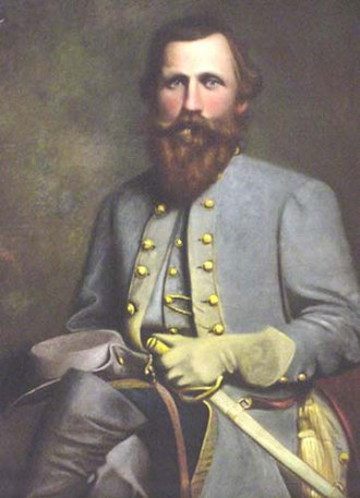 William D. Washington - Posthumous portrait of J.E.B. Stuart painted by Washington