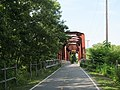 Washington Secondary Trail truss bridge over South Branch, Pawtuxet River, West Warwick, Rhode Island.JPG