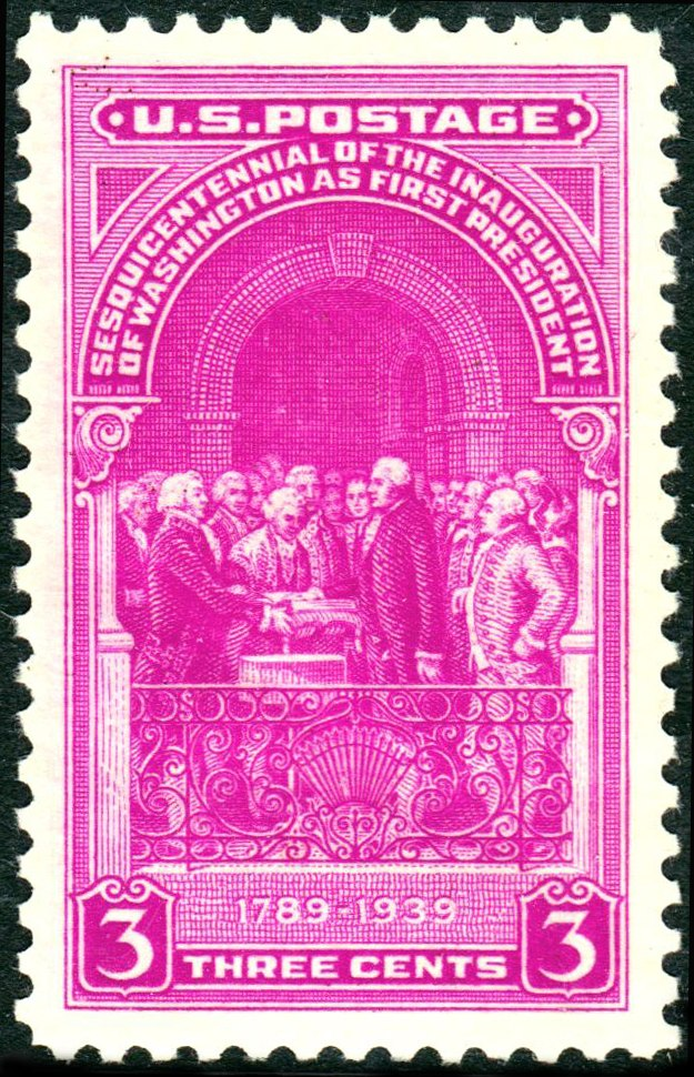 Washington taking Oath 1939 Issue-3c