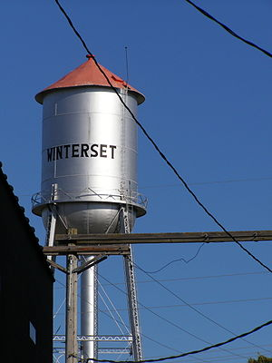 Winterset, Iowa - Water tower in Winterset