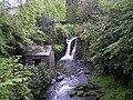 Waterfall and stone hut - geograph.org.uk - 101316.jpg