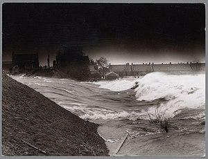 Alblasserwaard - Dike burst near Papendrecht during the North Sea flood of 1953