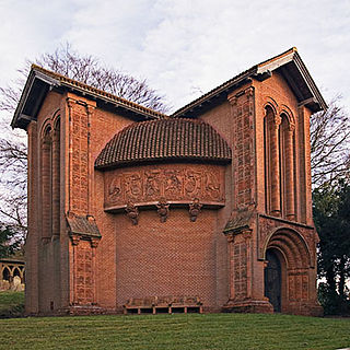 Watts Cemetery Chapel Gothic Revival chapel and mortuary located in the village of Compton in Surrey