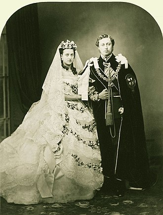 Edward VII - Edward and Alexandra on their wedding day, 1863