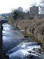 Weir, on the Afon Lwyd, Pontnewynydd - geograph.org.uk - 399123.jpg