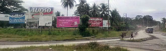 Lae - Welcome signs on approach from Nadzab airport