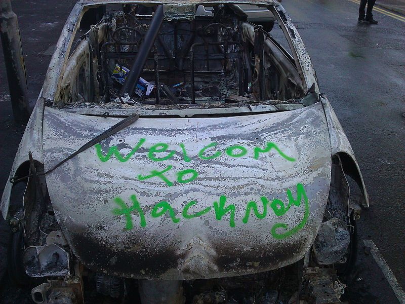File:Welcome to Hackney, 2011 riots.jpg