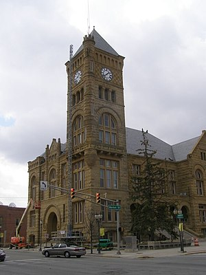 Bluffton, Indiana - The Wells County Courthouse is listed on the National Register of Historic Places