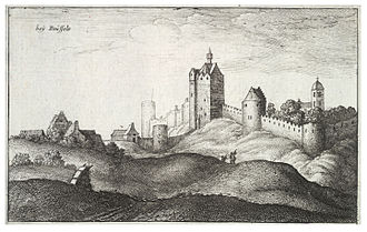 Fortifications of Brussels - 17th-century engraving of the walls of Brussels, by Wenceslas Hollar
