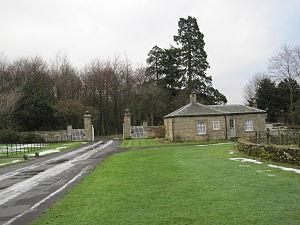 Capheaton Hall - Image: West Lodge to Capheaton Hall (geograph 2208605)
