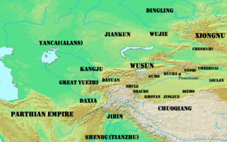 Western Regions - The Western Regions in the first century BC.
