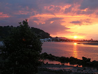 Whakatane - Image: Whakatane Harbour sunset 01