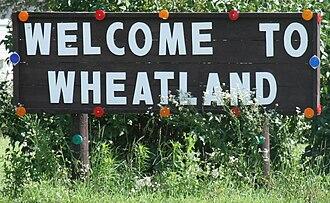 Wheatland, Iowa - Image: Wheatland Iowa 20090712 Welcome Sign