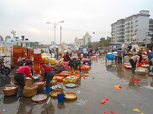 Haikou New Port - The former fish market at the eastern end provided seafood for markets and restaurants throughout the city