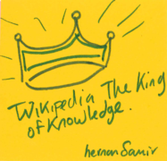 Wikipedia the king of knowledge.png