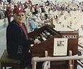 Wilbur Snapp, organist 1985, Jack Russell Stadium, Clearwater, FL.JPG