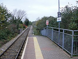 Wildmill Railway Station - the view north - geograph.org.uk - 1691268.jpg