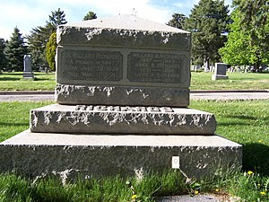 Willard Richards - Back of Willard Richards' grave marker