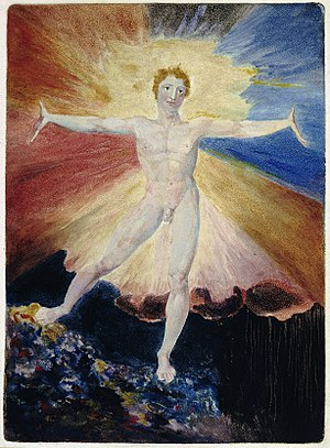 Albion - Image: William Blake Albion Rose from A Large Book of Designs 1793 6