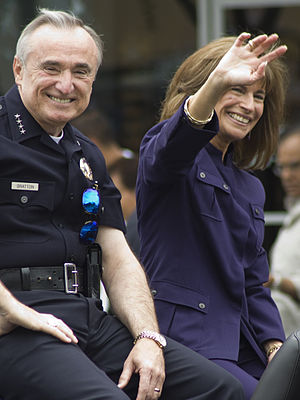 William Bratton - Bratton and fourth wife, Rikki Klieman, at LA/Valley Pride