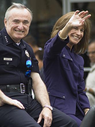 William Bratton - Bratton and fourth wife, Rikki Klieman, at LA/Valley Pride