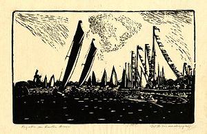 "William Brown Macdougall - ""Regatta on Barton Broad"""