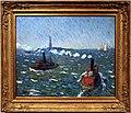 William james glackens, giornata di brezza, rimorchiatori, porto di new york, 1910 ca.jpg