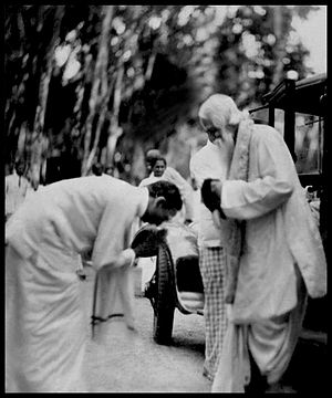 Wilmot A. Perera - Image: Wilmot A Perera & Rabindranath Tagore