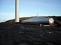 Wind Turbine Blade at Corse Hill - geograph.org.uk - 1088082.jpg